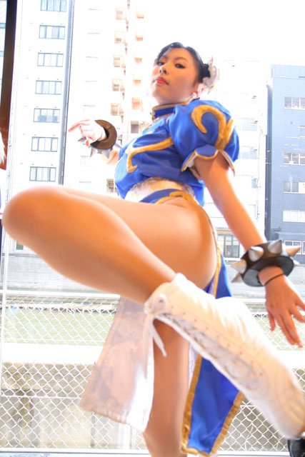 hot and sexy chun li cosplay