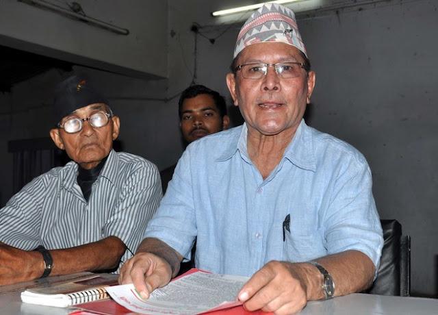 National president of the Akhil Bharatiya Rashtriya Gorkha Morcha Capt JB Karki