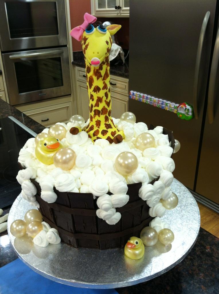 desserts by dawn giraffe baby shower cake
