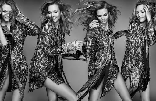 Karlie Kloss model photo shoot for ELLE UK fashion magazine