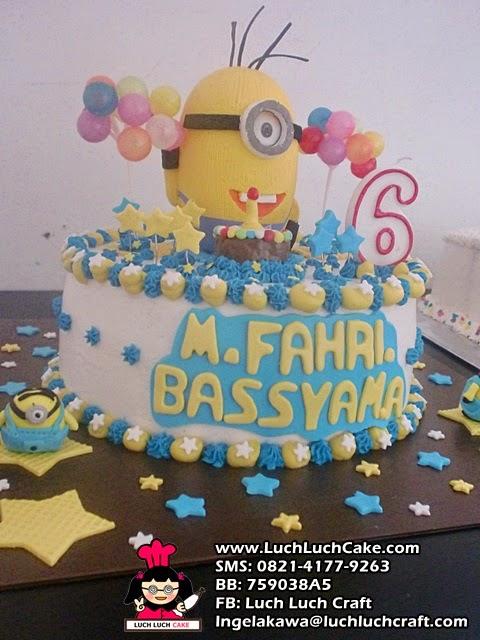 jual kue tart ulang tahun minion cute