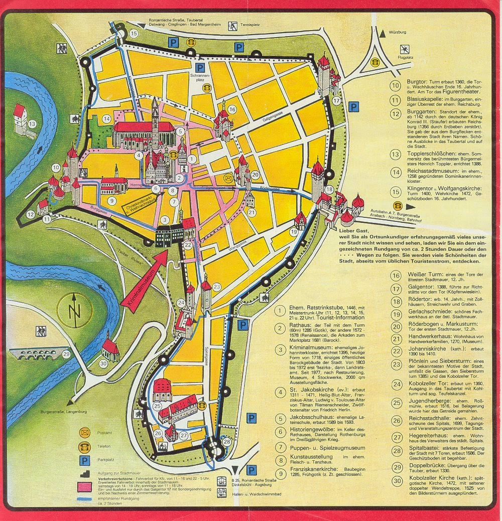 Rothenburg Germany Tourist Map – Germany Tourist Attractions Map