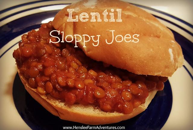 Lentil Sloppy Joes www.hensleefarmadventures.com