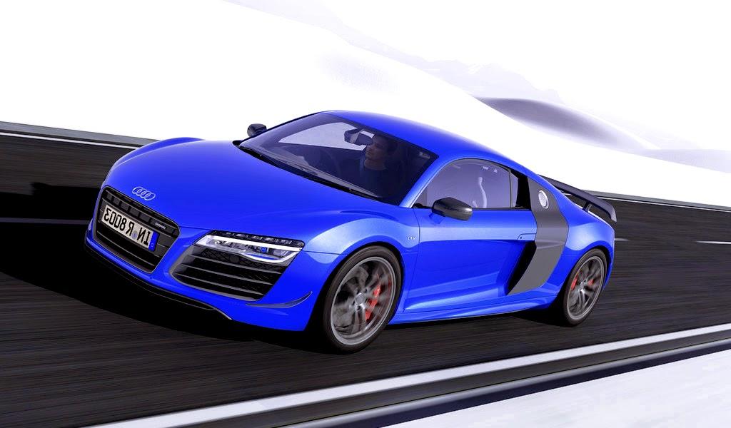 2015 Audi R8 LMX Ara Blue Crystal Effect Front Wallpaper