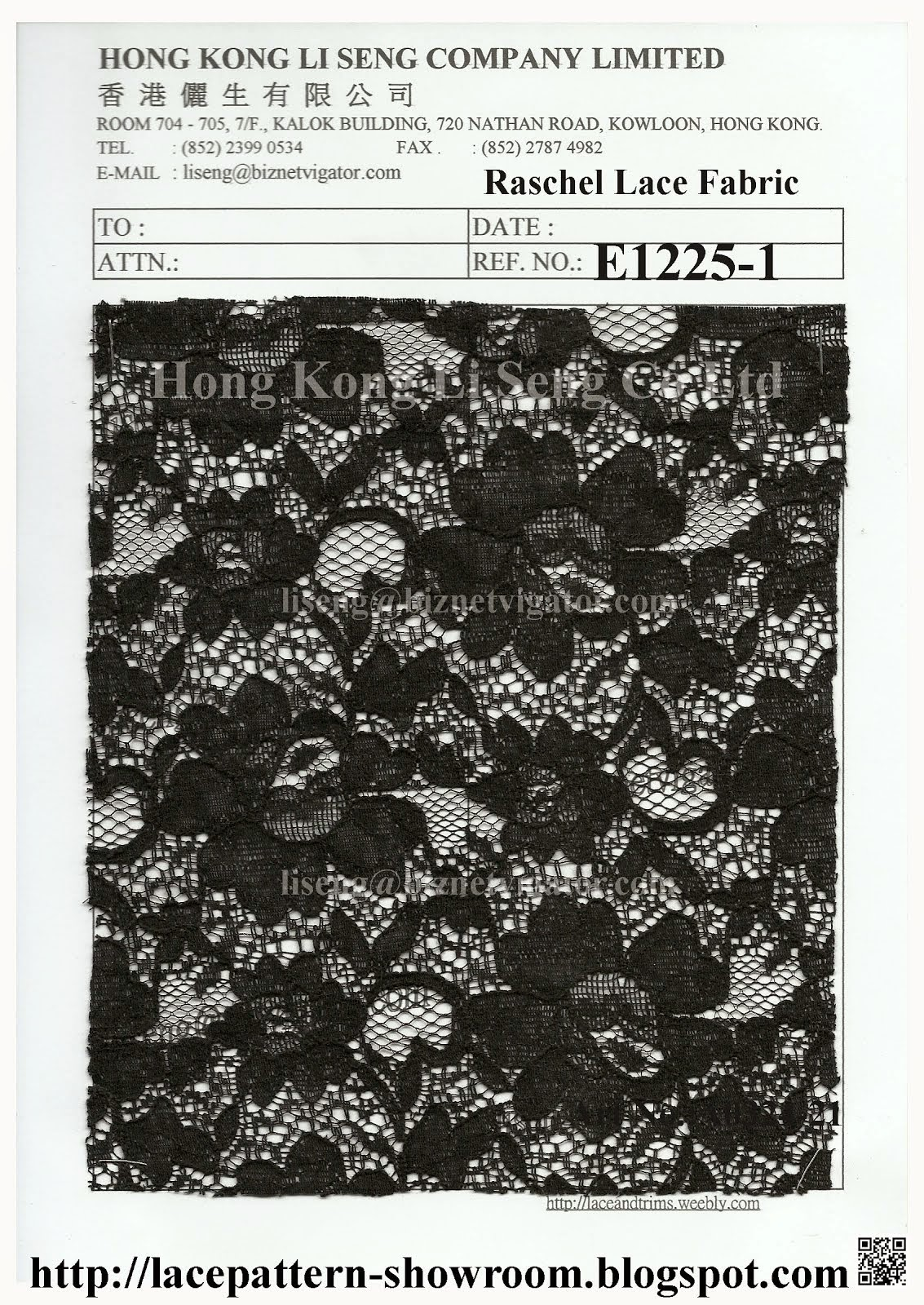 New Raschel Lace Fabric Manufacturer Wholesale Supplier - Hong Kong Li Seng Co Ltd