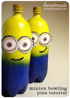 Botellas con Minions.