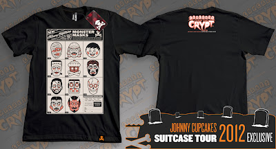 "Johnny Cupcakes 2012 Suitcase Tour ""Cupcakes From The Crypt"" Exclusives - Masks"