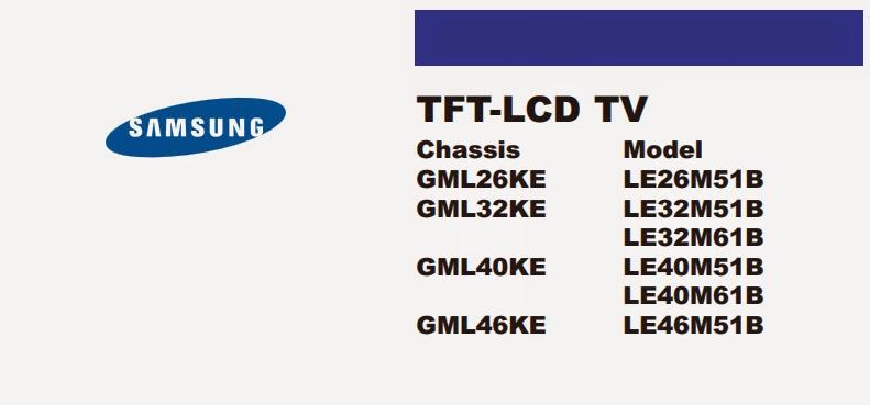 Sơ đồ tivi Samsung model LE46M51B
