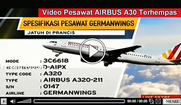 Infor Terkini Pesawat Airbus A320 Germanwings Terhempas di Prancis VIDEO