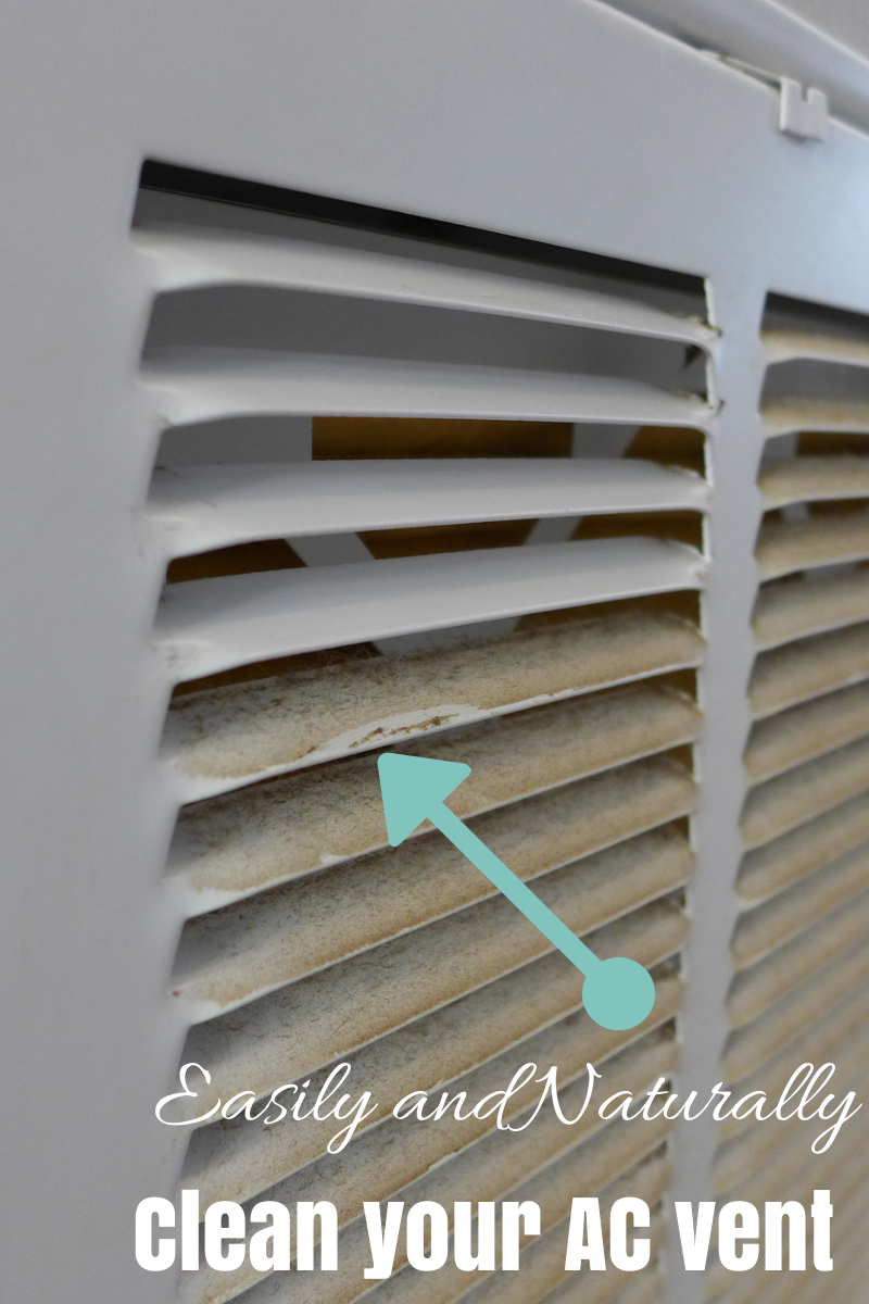 Green Clean your indoor AC Vent #greencleaning