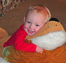 Eva and cozy lion...