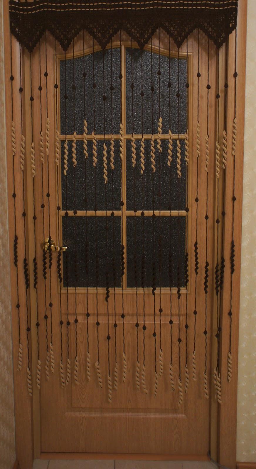 Занавески для дверных проемов своими руками фото