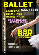 BALLET ADULTOS INICIACIÓN CURSO 2019-20, LOS LUNES EN BSD MÁLAGA CENTRO.