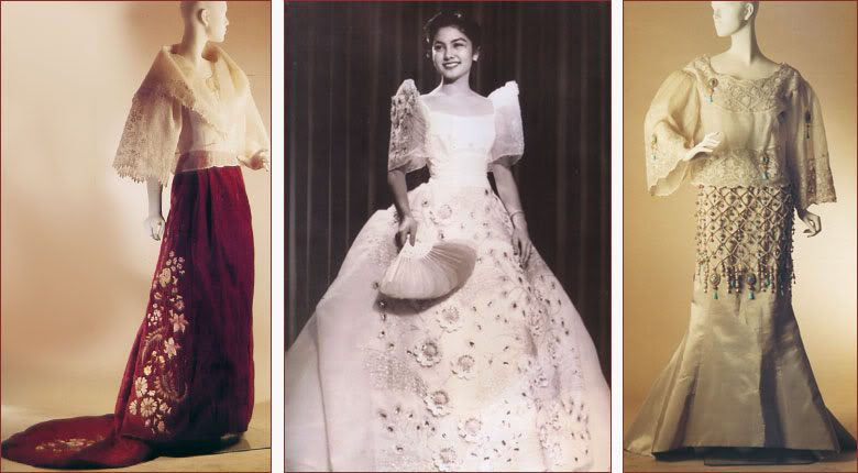 Filipiniana Terno Dress http://chandelierbythesea.blogspot.com/2012/04/lacy-days-filipino-terno-is-new-again.html