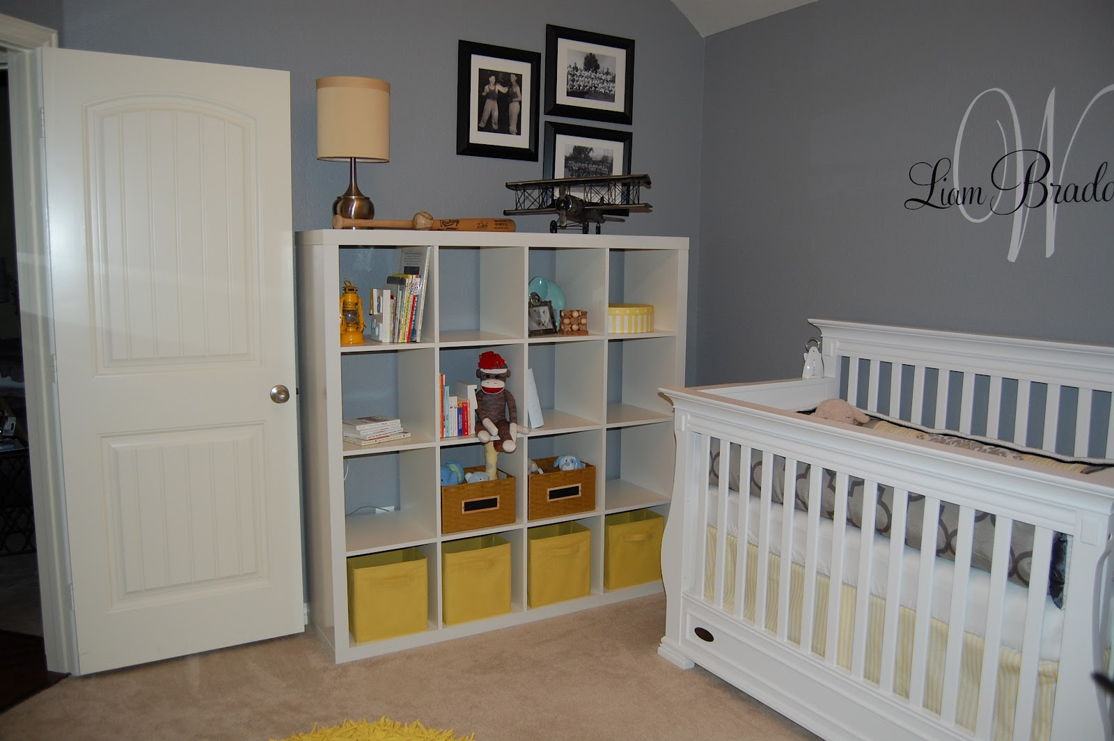 Style With Wisdom Grey And Yellow Nursery