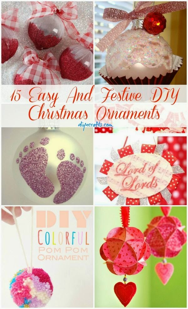 15 Easy And Festive DIY Christmas Ornaments