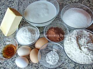 Prajitura tavalita cu cocos ingrediente reteta