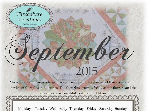 Free September 2015 Calendar