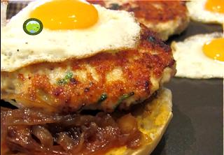 hamburguesa de pollastre de pages