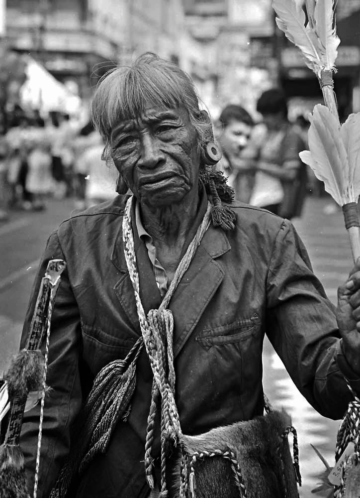 PORTRAIT OF AN INDIGENA IN THE STREETS  OF ASUNCION, PARAGUAY 1987