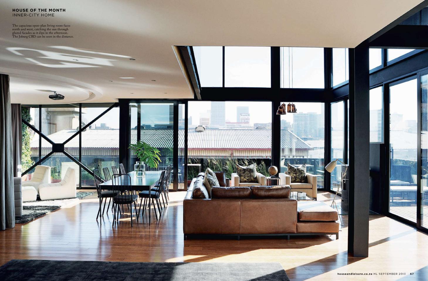I Loved This Penthouse In The Johannesburg CBD September 2013 House Leisure Magazine