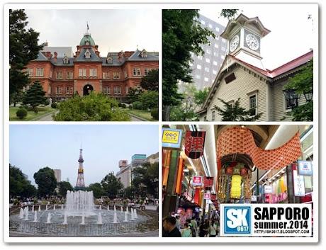Sapporo Japan - Former Hokkaido Government Office, Sapporo Clock Tower, Odori Park and Sapporo Tower, Tanukikoji