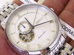 SEIKO WHITE ROMAN DIAL OPEN HEART DIAL 24 HOURS INDICATOR - AUTOMATIC 4R39A