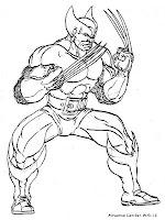Mewarnai Gambar Wolverine X-Men