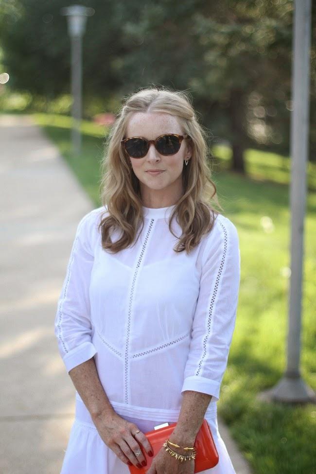 elizabeth and james sunglasses, gorjana earrings