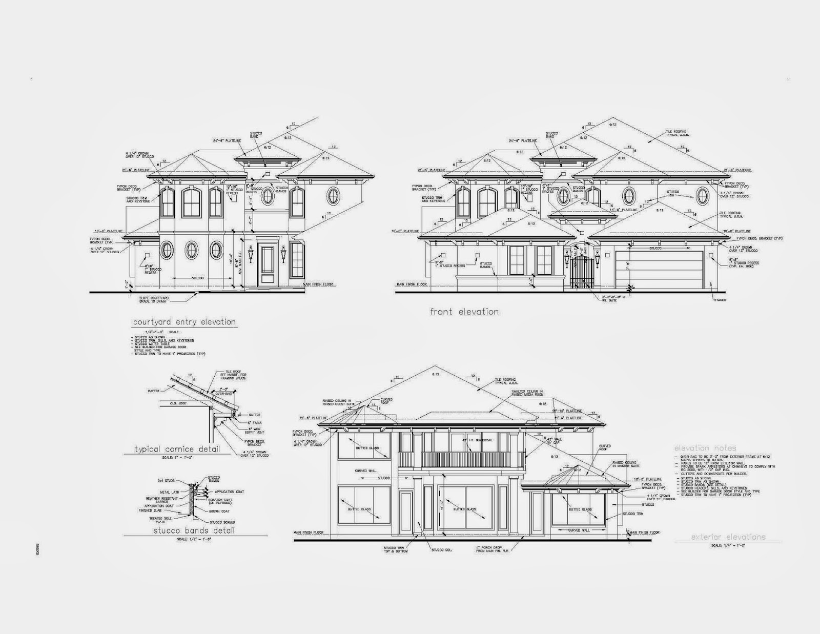 Architectural Elevation Drawings