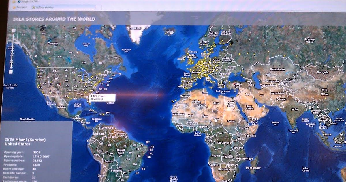Kata B Log Live Ikea Auf Der Weltkarte