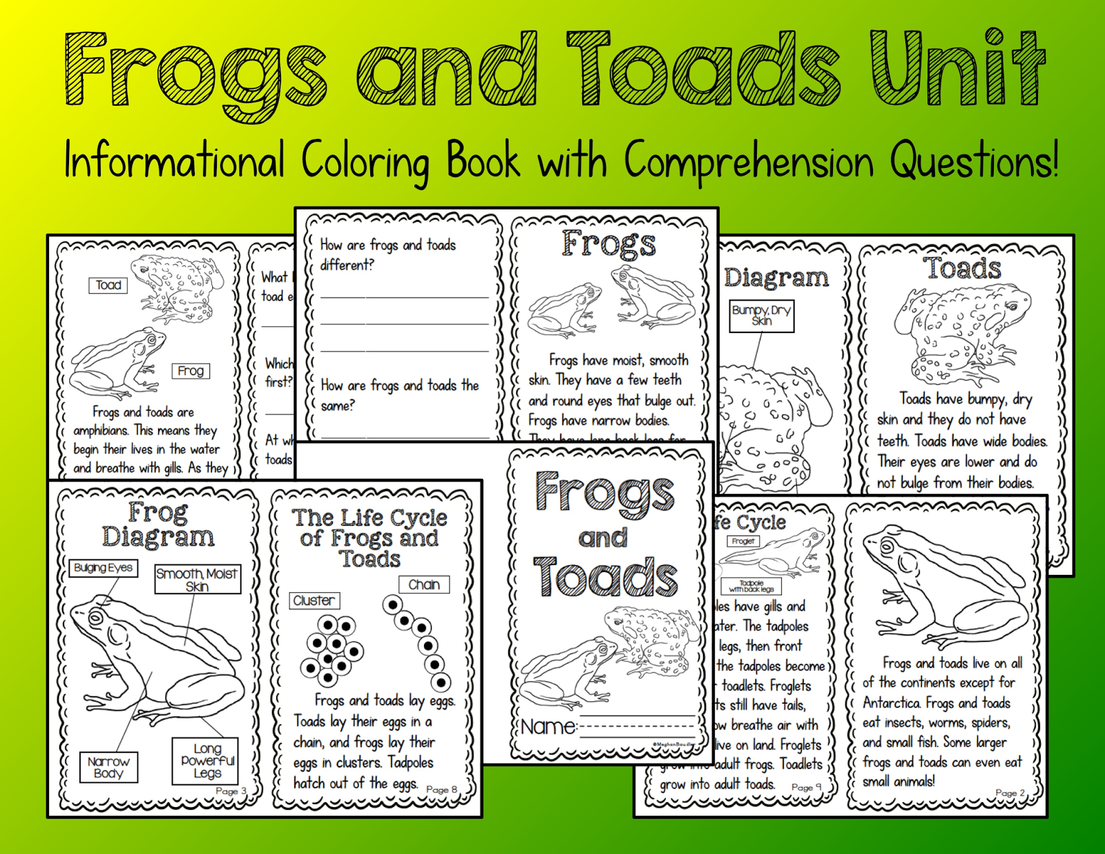 The creative colorful classroom frogs and toads informational unit check out the frog art here it is also found in the frogs and toads unit pooptronica Gallery