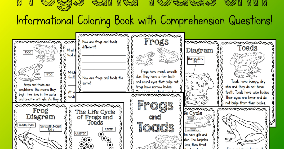 The Creative Colorful Classroom Frogs And Toads Informational Unit