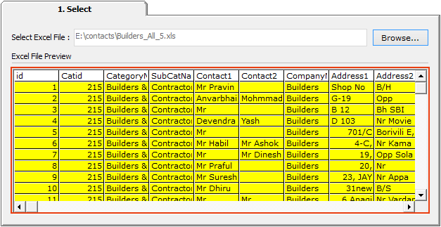 SysTools Excel to vCard Converter software
