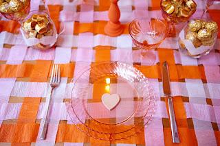 Mesa p/Dia dos Namorados - pratos com charme