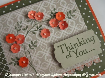 Stampin' Up!, Color Challenge, Sweater Weather DSP, Regals Collection Paper Pack, Thinking of You, Margaret Raburn