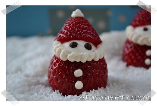 Babbi Natale di Fragole e Mascarpone
