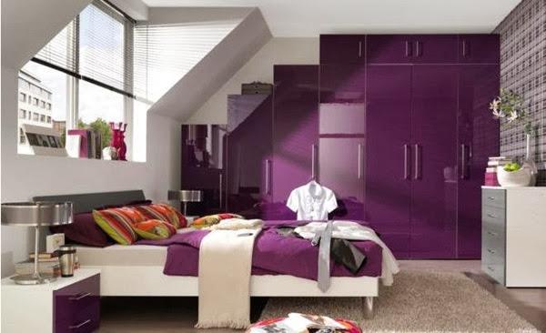 Decoration chambre couleur violet id es d co moderne - Chambre couleur lilas ...