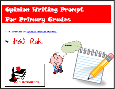Free primary opinion writing prompt from Raki's Rad Resources.