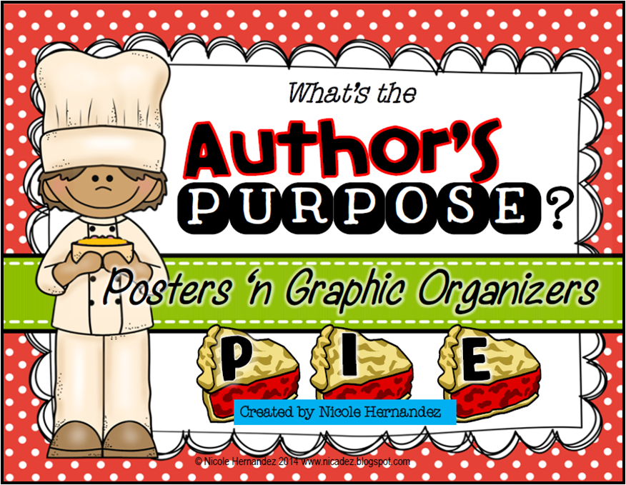 http://www.teacherspayteachers.com/Product/Whats-the-Authors-Purpose-Posters-n-Graphic-Organizers-1467654
