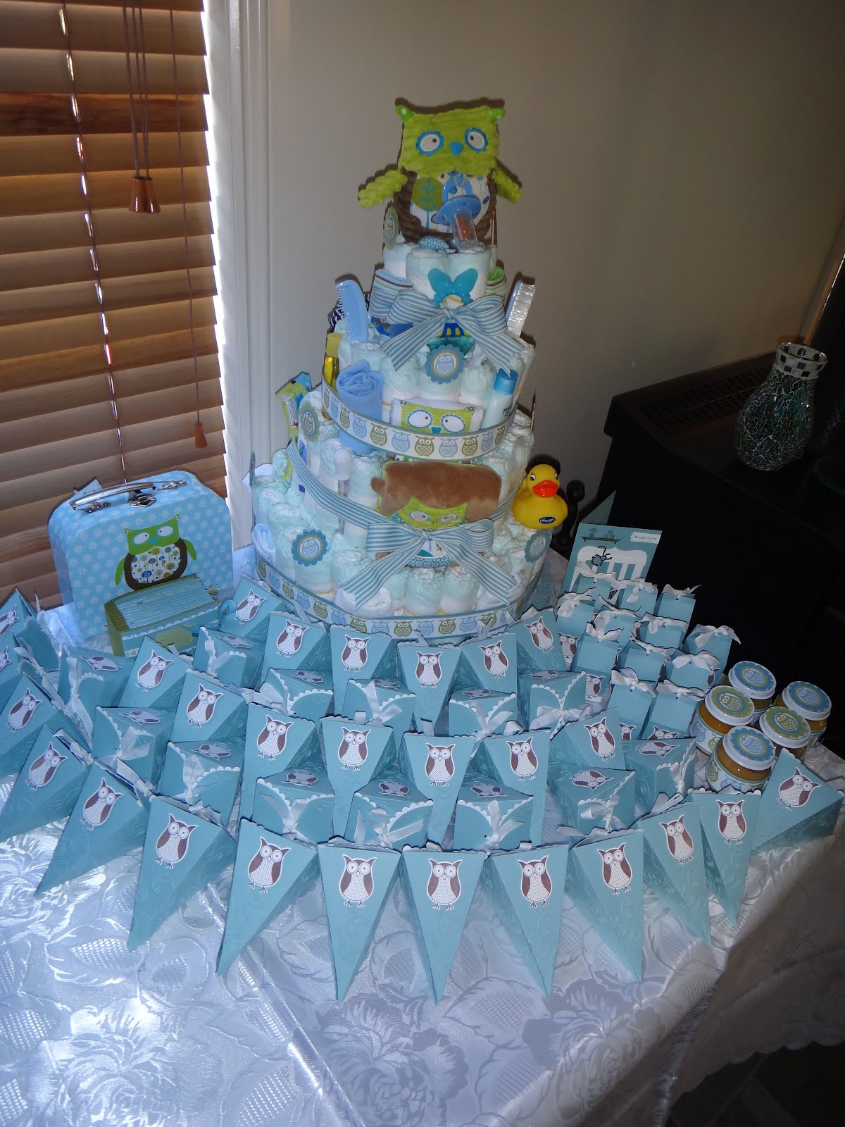 Scrappinstamper baby shower time again for Baby shower decoration ideas boy
