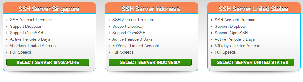 Free Secure Shell (SSH) Account Server Singapore, United States, United Kingdom