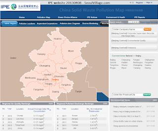 IPE pollution map for Beijing
