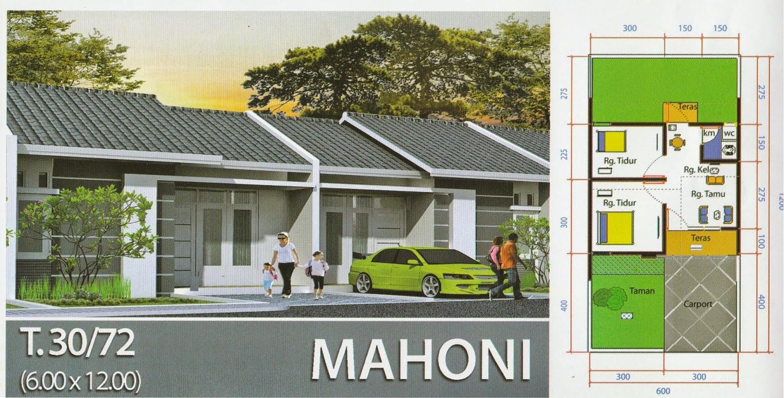 Desain Bangunan Rumah Type 30/732