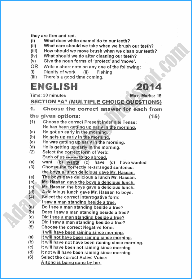x-english-past-year-paper-2015