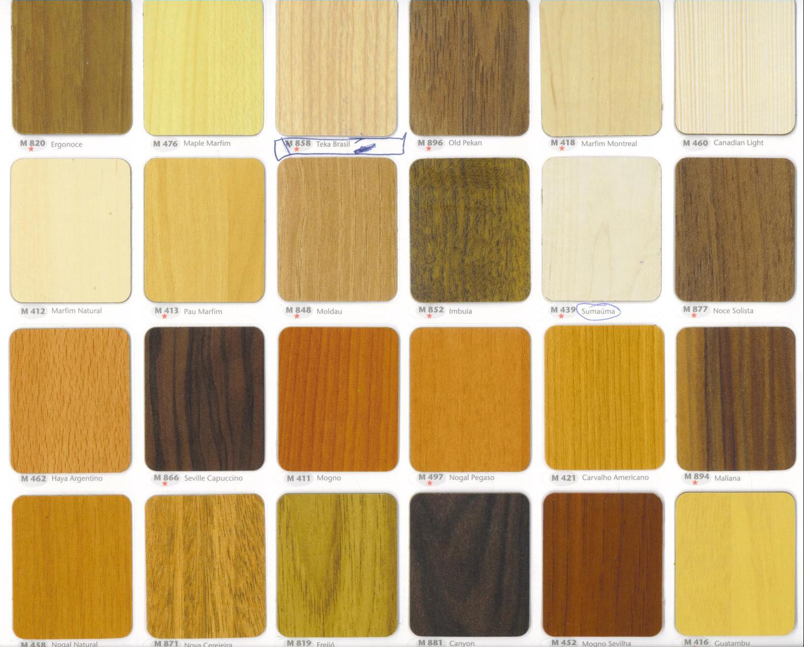 mostruario de cores de mdf padrão madeira para confecções de  #AB8920 1584x1275