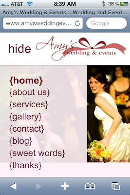 Amy's Wedding & Events on iPhone