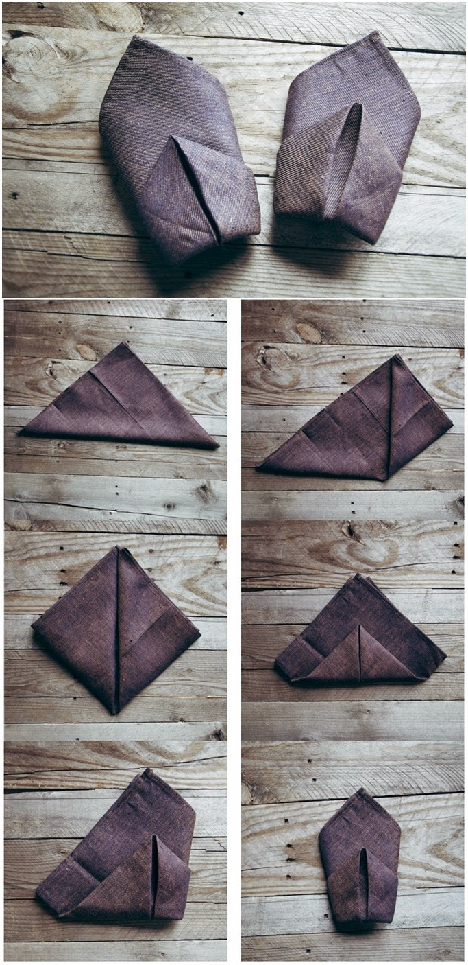 5 Napkin Fold Tutorials