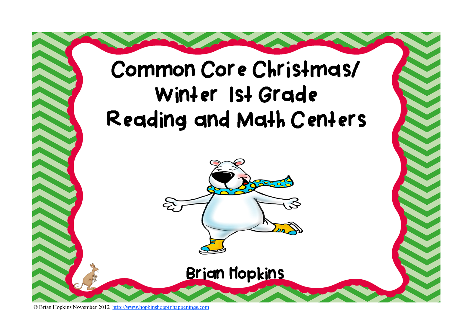 http://www.teacherspayteachers.com/Product/Christmas-Common-Core-1st-Grade-Reading-and-Math-Centers-416625