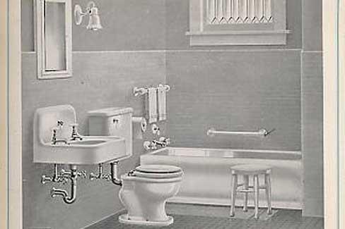 Omppula miss 1920 luvulla k ytiin pesulla for Bathroom designs 1900 s